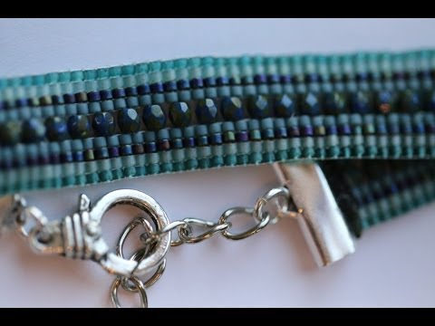 Bead Loom Bead Weaving Tutorial with Delica seed beads