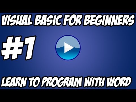 Visual Basic Tutorial -  #1 - Hello World Advanced