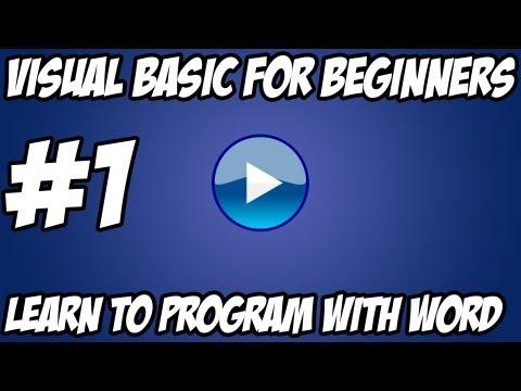 Visual Basic Tutorial -  #1 - Hello World Advanced