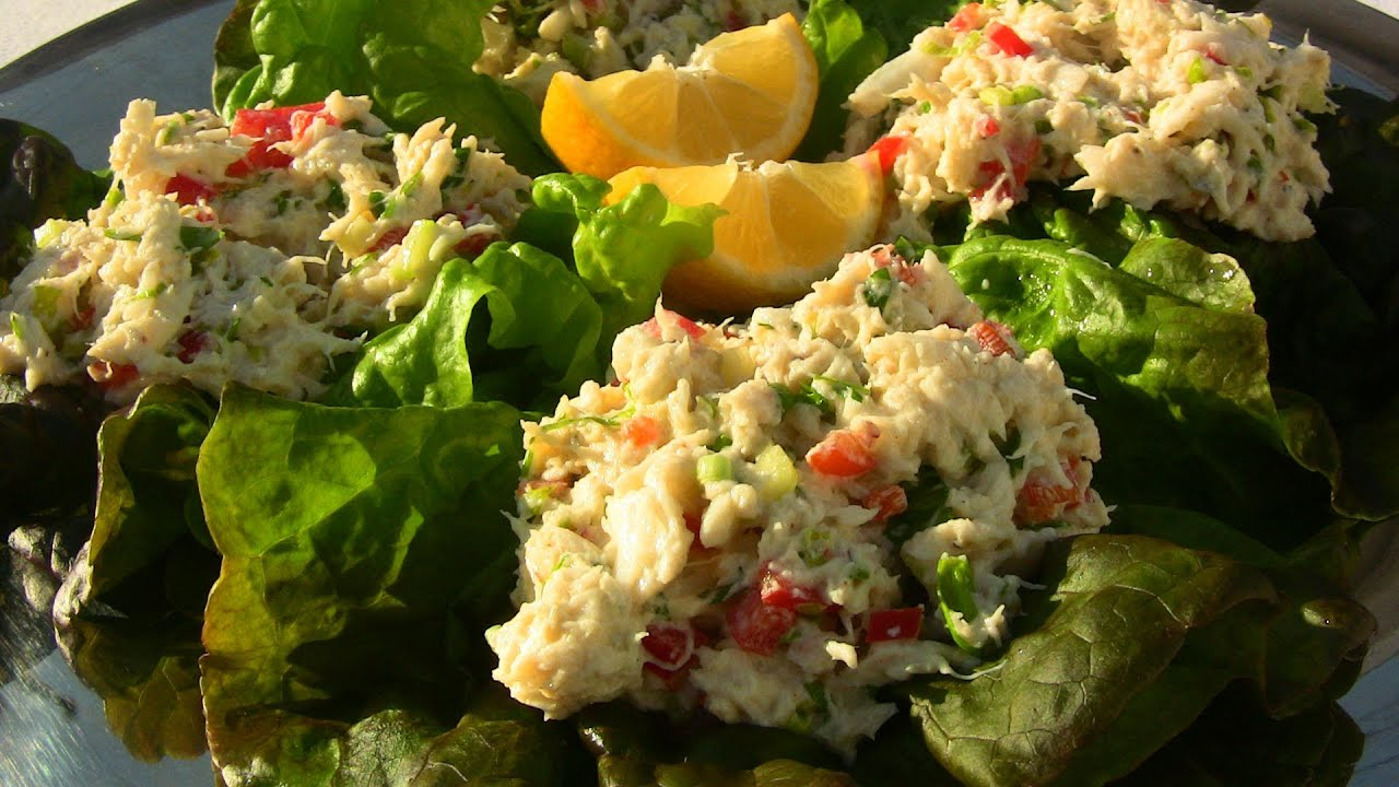 with crab salad salad white gazpacho with crab salad simple crab salad ...
