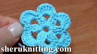 Crochet 6-Petal Flat Flower Tutorial 27
