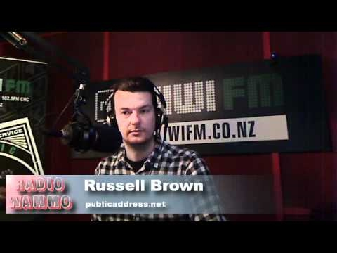 Russell Brown: Canterbury Earthquake Media Coverage 8-9-10 Radio Wammo Show, Kiwi FM