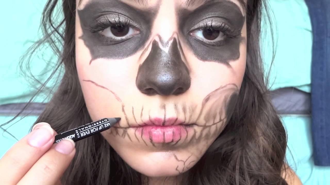 zombie boy skeleton makeup tutorial youtube