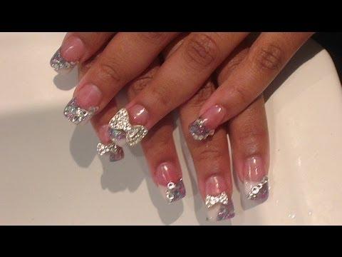 Acrylic Nails Big Bling Bows BLING AND MORE