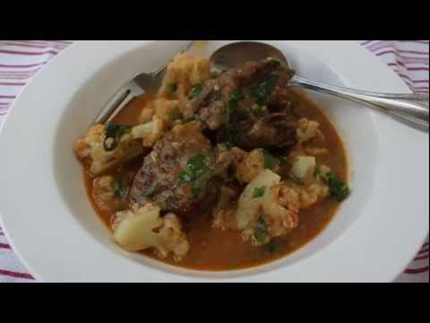 Coconut Curry Beef Short Ribs and Cauliflower - A Classic American Curry Recipe