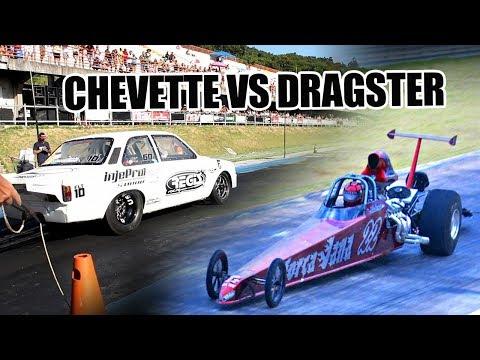 Chevette VS Dragster - Recorde Ze Louquinho FLT 10 - 4s724 @244km/h nos 201 metros