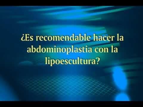 Es recomendable hacer la abdominoplastia con la lipoescultura