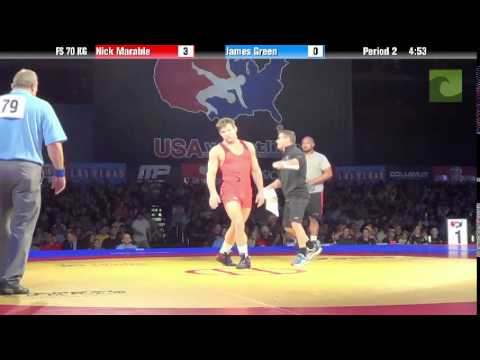 70 KG SF - Nick Marable (Sunkist Kids) vs. James Green (TMWC)