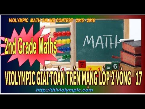 Violympic Giải toán trên mạng Lớp 2 Vòng 17 cấp thành phố năm 2016