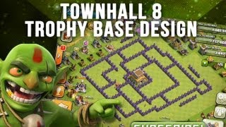 Clash Of Clans: Townhall 8 Trophy Base Design