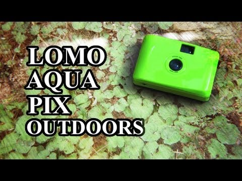 The Lomo Aqua Pix is a super cheap and super plastic 35mm film camera