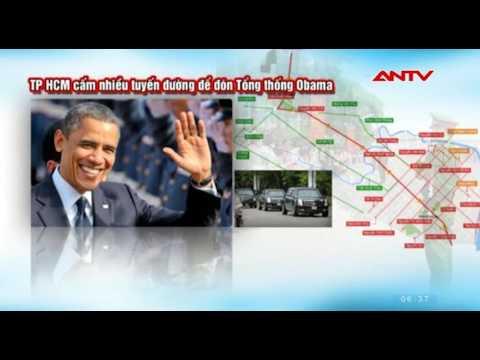 TP.HCM cấm nhiều tuyến đường để đón Tổng thống Obama