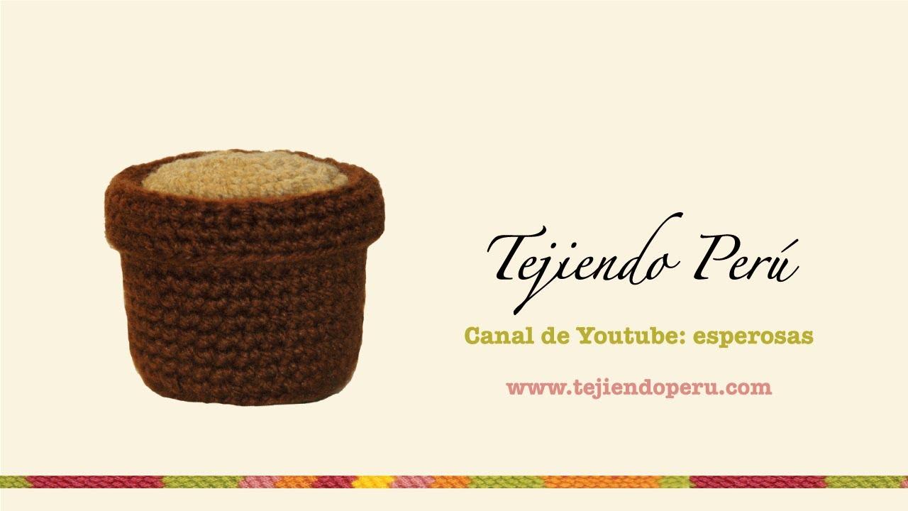 Amigurumi Cactus Tejiendo Peru : Cactus amigurumi (crochet): macetero tejido a crochet ...
