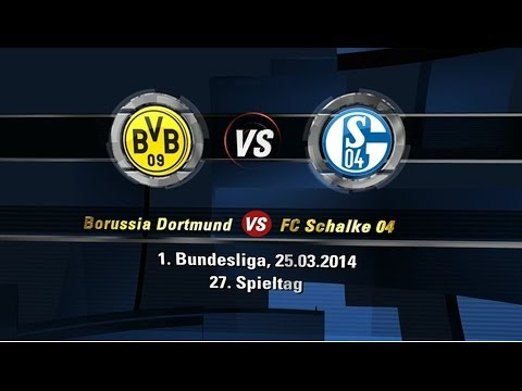 Borussia Dortmund 0:0 FC Schalke 04 | Bundesliga | 27. Spieltag | 25.03.2014 [FIFA 14 Prognose] [HD]