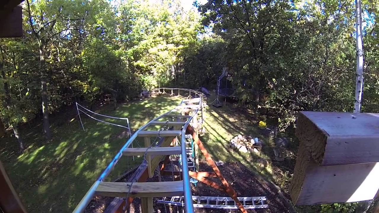 backyard roller coaster update 3 youtube