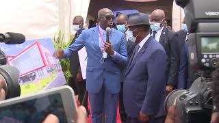 Pose de la première pierre de deux usines de cacao par le Président Alassane Ouattara