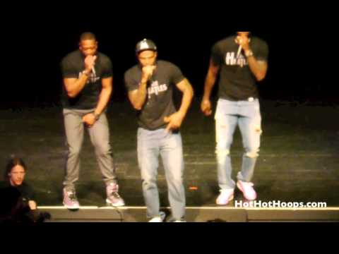 Battioke 2014 - LeBron James, Dwyane Wade, Udonis Haslem perform Robin Thicke