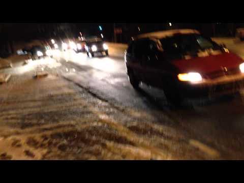 Atlanta Ice Storm Snow Jam 2014 - Johnson Ferry Rd and Peachtree Dunwoody Road in Sandy Springs