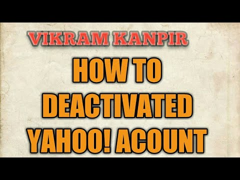 How to delete my yahoo account - 22.4KB