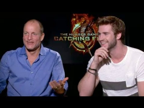 Liam Hemsworth & Woody Harrelson joke about Jennifer Lawrence's Diva Antics
