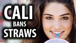 California Bans Plastic Straws to Virtue Signal