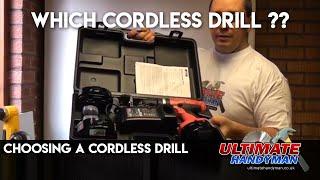 Choosing a cordless drill