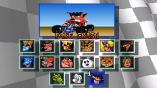 Crash Car Team Racing [PSP] + Cheats Desbloquear Personas