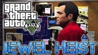 Grand Theft Auto V JEWELLERY STORE HEIST PS3 HD
