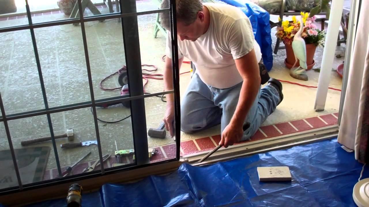 Sliding Glass Door How To Replace A Sliding Glass Door