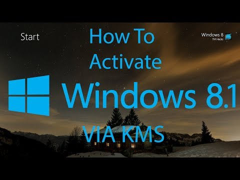 How To Activate Windows 8.1 Build 9600 VIA KMS.