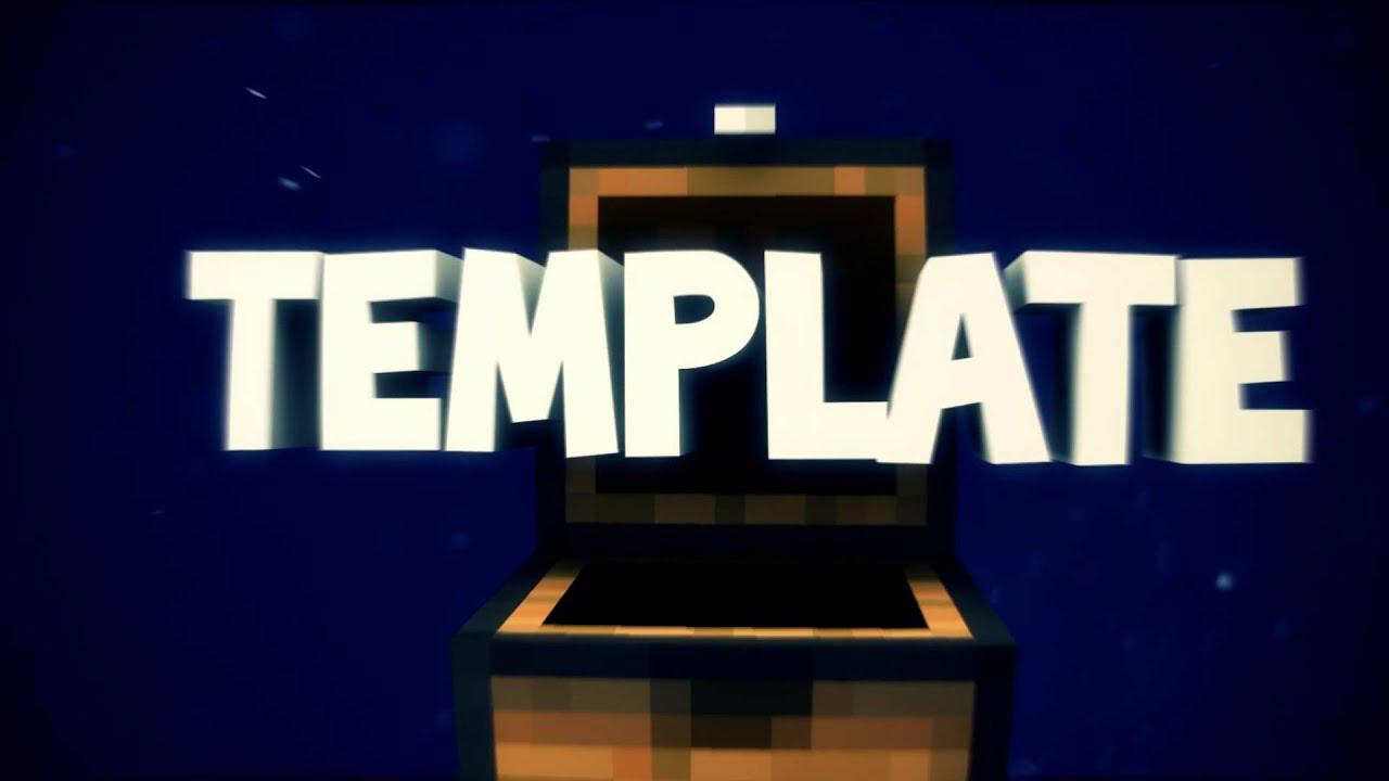 free minecraft intro template by raijin youtube