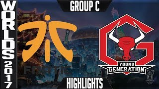 Fnatic vs Young Generation Highlights Game 2 S7 Worlds 2017 Play in Group C FNC vs YG