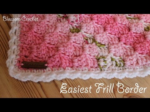 Easiest Crochet Border Ever! Simple Frills