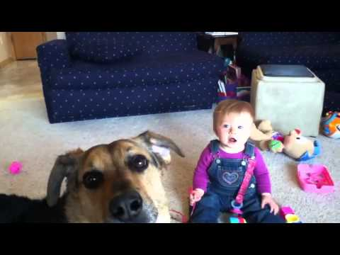 Baby and Dog - Hysterical Bubbles!