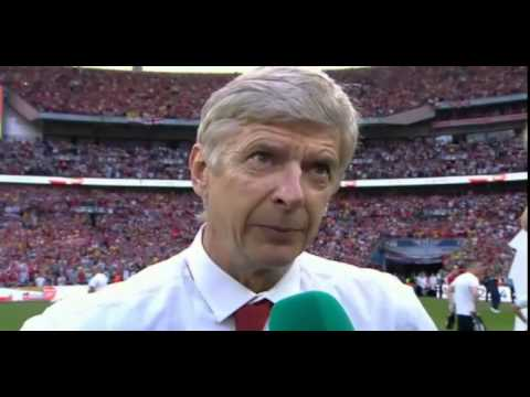 Arsene Wenger Post Match Reaction After Winning The FA Cup
