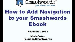 How To Add Navigation To A Smashwords Ebook (Create A