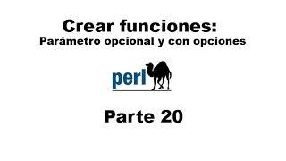 Perl tutorial. Parte 20