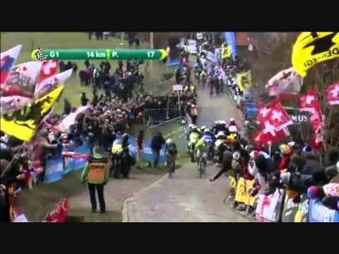 Fabian Cancellara impressive attack on Paterberg (Tour of Flanders 2013)