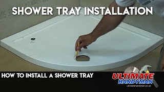 Shower tray install on mortar