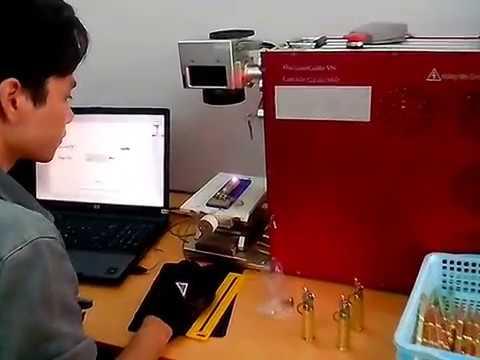 Khắc laser bật lửa làm từ vỏ đạn 12ly7, vỏ đạn đại liên
