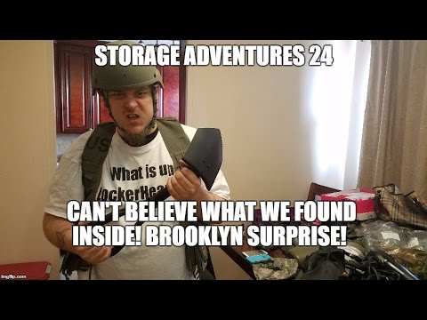 Storage Adventures 24: Surprise! Military Uniforms. Military Helmet. Jordans Nike