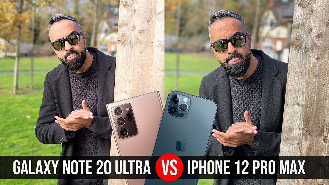 iPhone 12 Pro MAX vs Samsung Galaxy Note 20 Ultra Camera Test Comparison