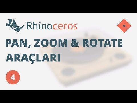 Yakın Kampüs – Rhinoceros 4 Ders 4 – Pan, Zoom ve Rotate Araçları (Türkçe)