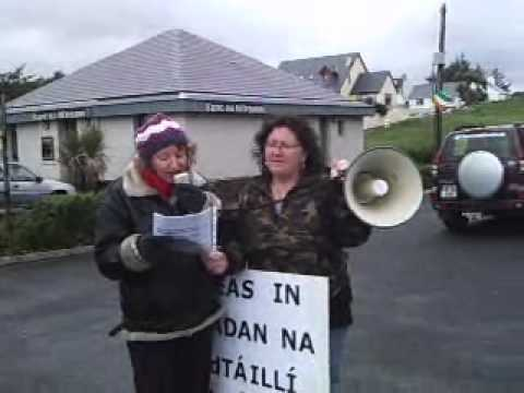 Can't Pay Won't Pay demonstration outside Dinny McGinley's Constituency Office