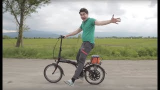 Электро-Велосипед своими руками за 15минут! Или как я сломал руку. Жорик Ревазов.