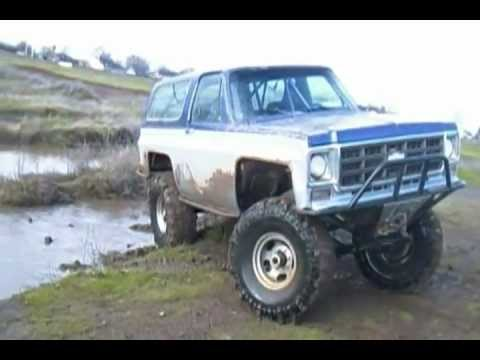 75 K5 Blazer on boggers white city ponds Oregon