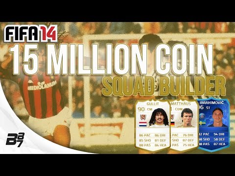 15 MILLION COIN TEAM! w/ TOTY Ibrahimovic and Pires | FIFA 14 Ultimate Team Squad Builder