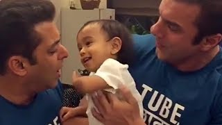 Watch: Salman Khan and Nephew Ahil have the cutest play fi..