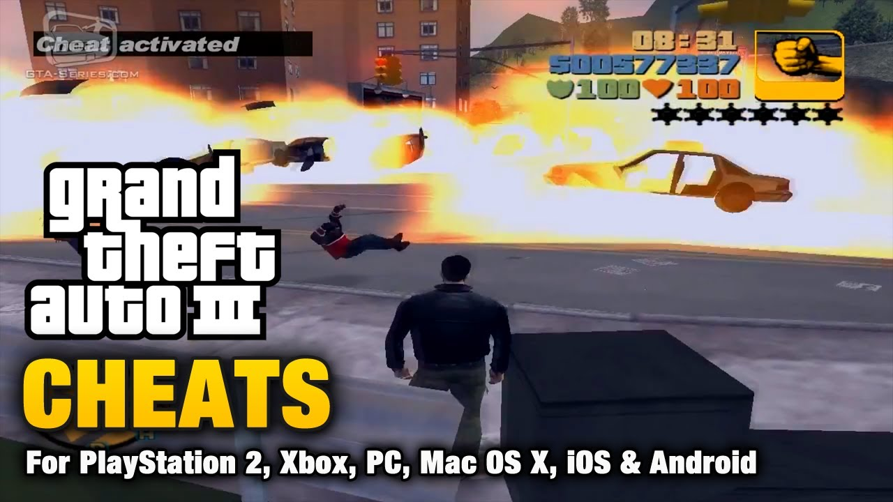 gta 3 pc cheats: