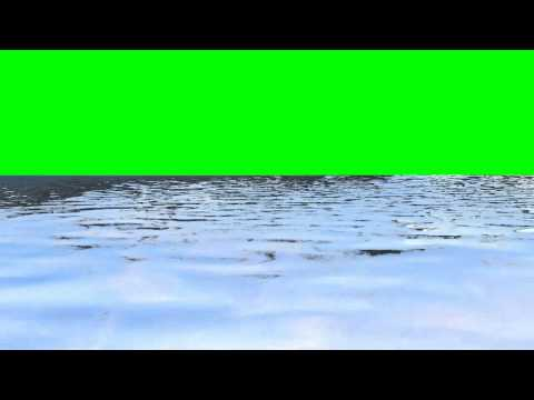 waves in water - free green screen effects